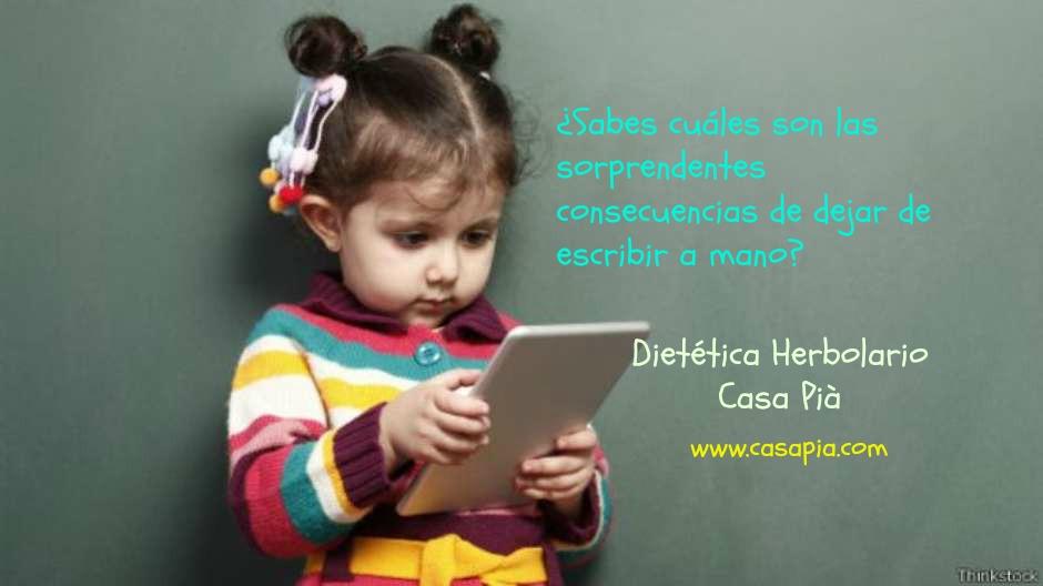 La escritura a mano tiene cada vez menos presencia en algunas escuelas.