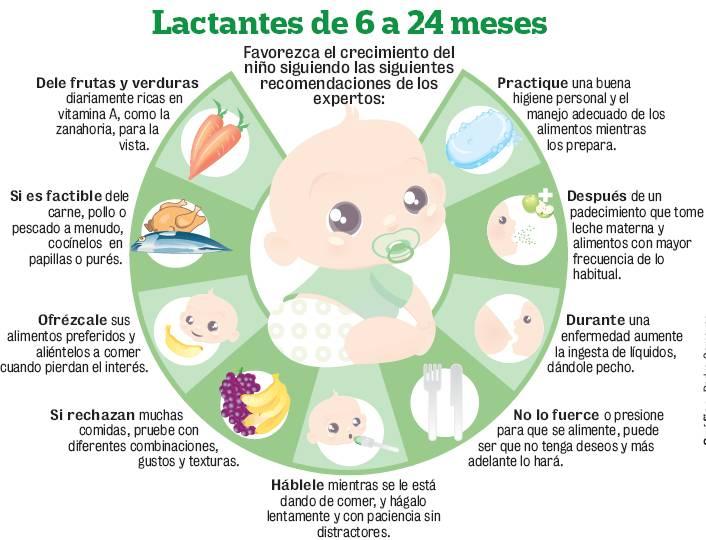 Beb s menos nutridos por alimentos industrializados el - Cuanto debe comer un bebe de 7 meses ...