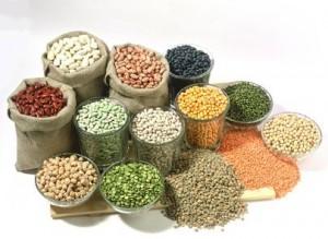 Arrangement mit Hülsenfrüchten/beans and lentils