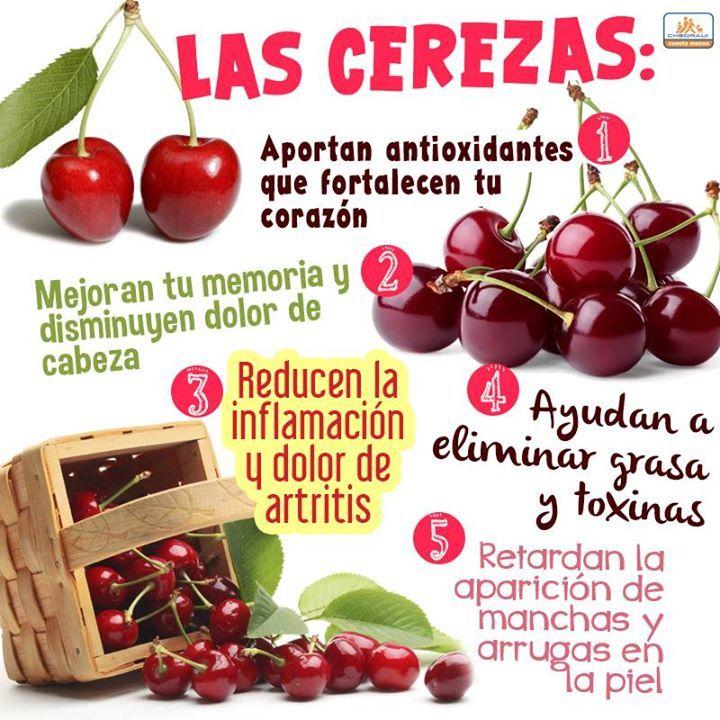 Las cerezas aportan antioxidantes